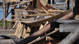BILDESERIE: Osebergskopi bygges