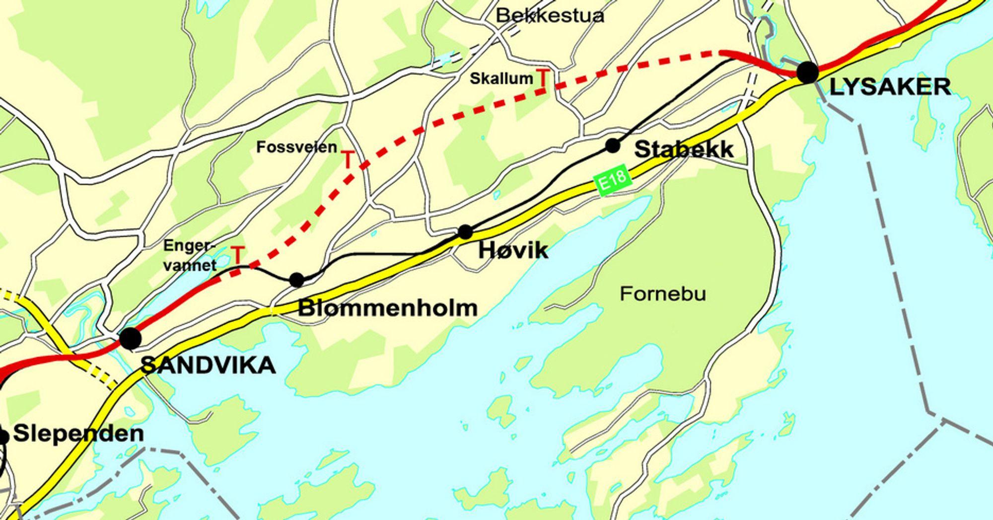 stabekk kart Lys i tunnelen for Vestkorridoren   Tu.no stabekk kart