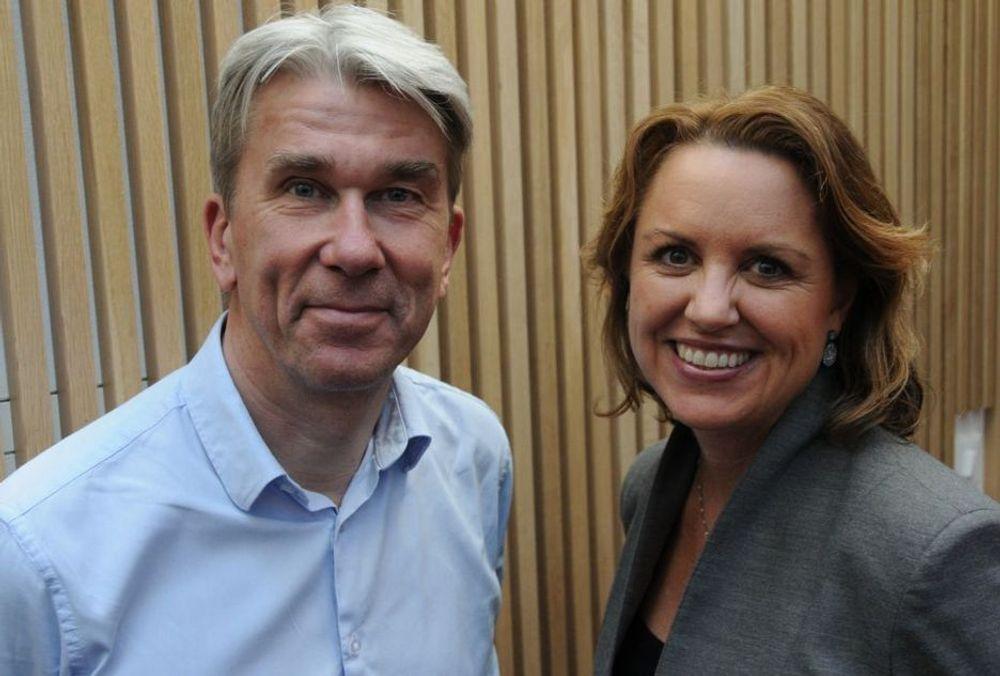 LEDERDUOEN: Sammen med administrerende direktør Liv Kari Hansteen skal Morten Engh fra Rambøll leder RIF.