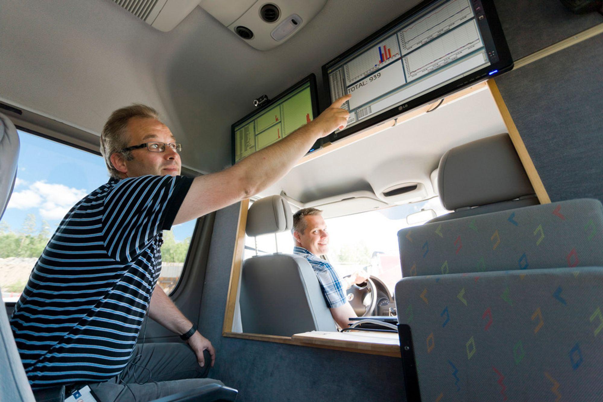 SUPERFART: Ericsson oppnådde hastigheter som nærmet seg en Gbit/s til et kjøretøy i fart med LTE Advanced som er en ekte 4G-teknologi.