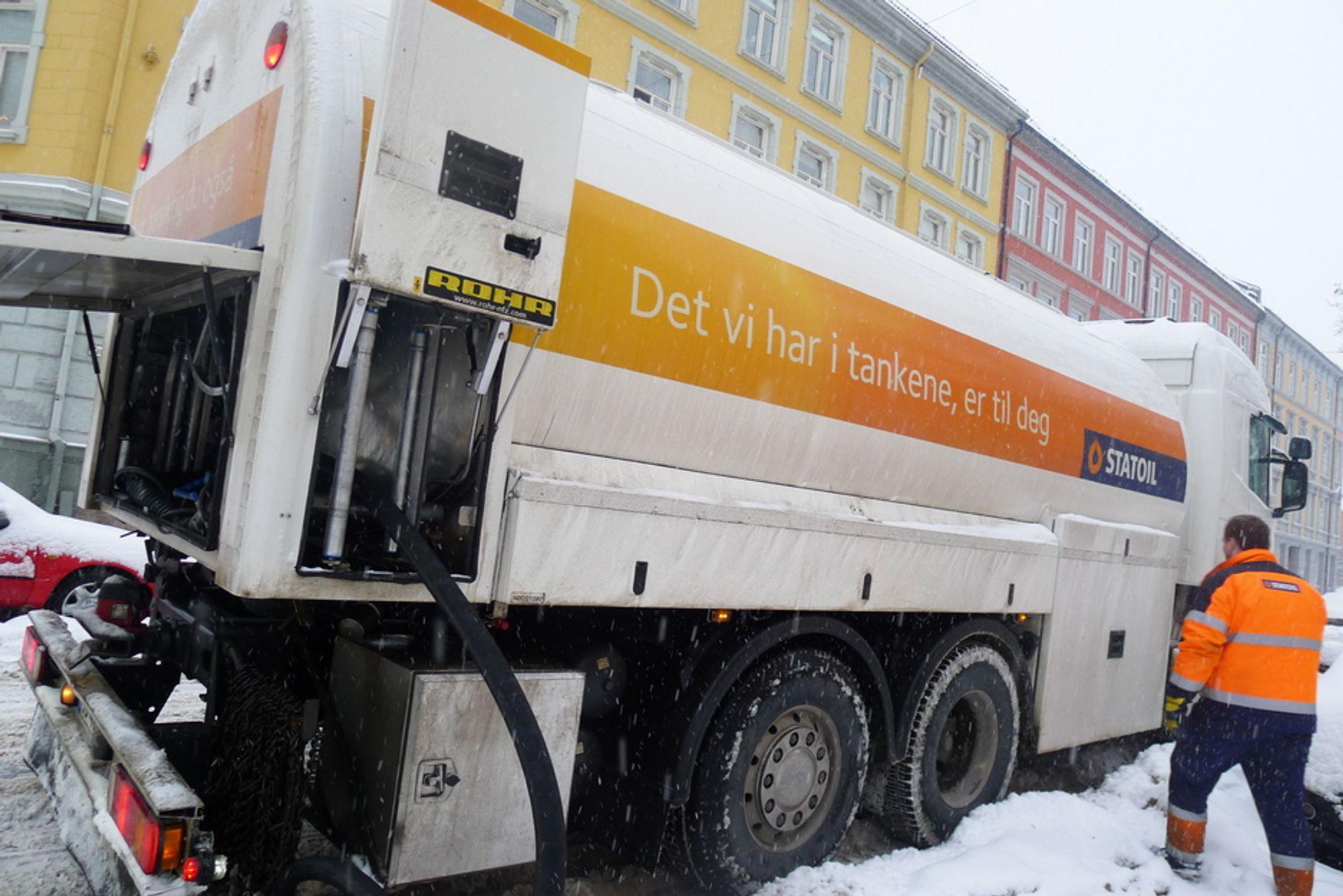 VENTETID: Statoil Norge har ekstraordinær lang leveringstid på fyringsolje i enkelte områder. Etterspørselen har eksplodert.