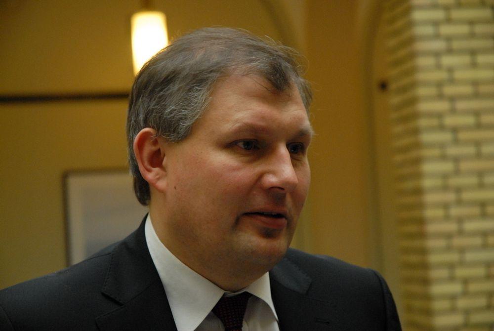 Energiminister Terje Riis-Johansen