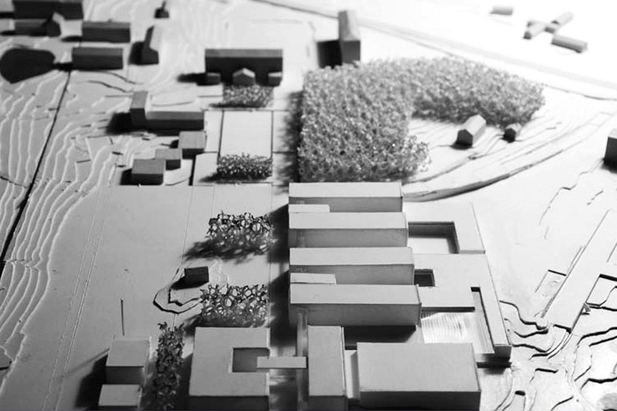 FRA NORD: Sett fra nordsiden kommer det klart frem at de kommende bggene blir mye større enn de gamle eksisterende byggene på UMB. Nå ligger det an til ti nybygg.