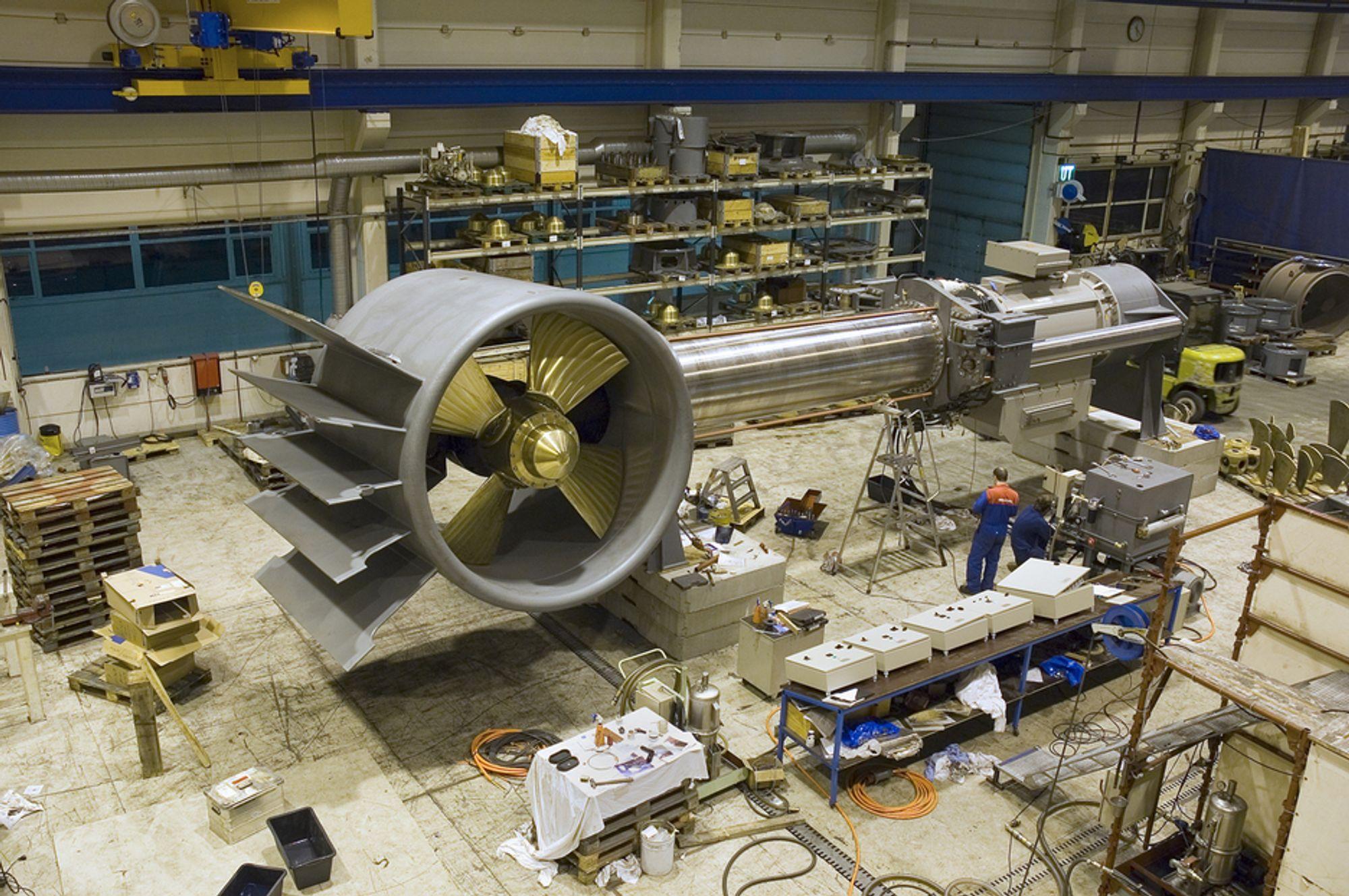 Propell: Brunvoll i Molde leverer propeller og thrustere til norske og utenlandske skip.