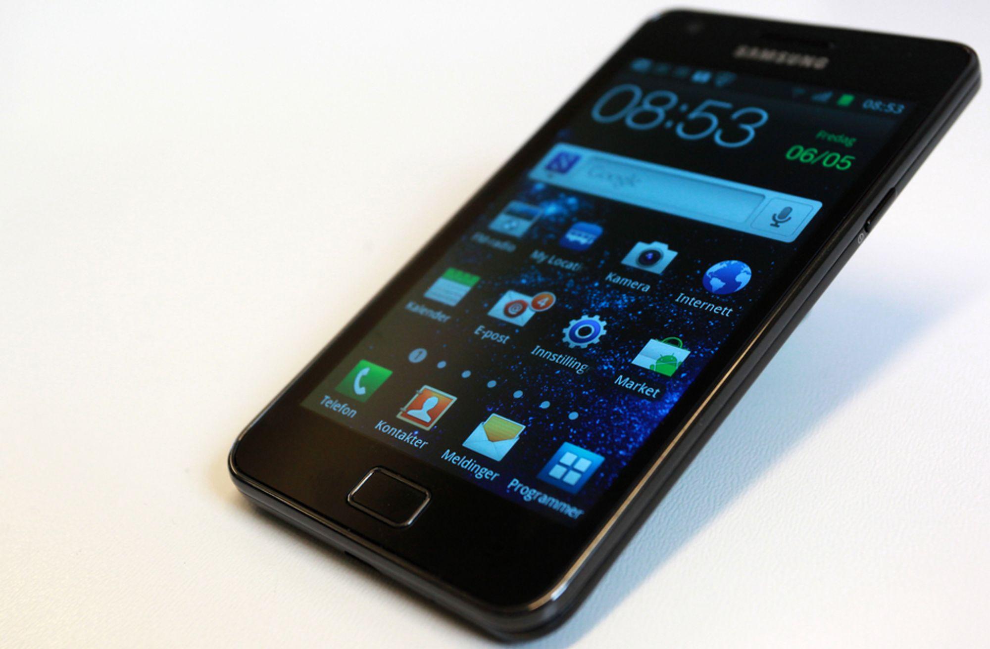 STØRST: Android-operativsystemet har nå over halvparten av markedet for smarttelefoner, og ingen har hatt større glede av det enn Samsung, som har hatt en formidabel vekst i markedsandeler. Ikke minst på grunn av nye Samsung Galaxy S II.
