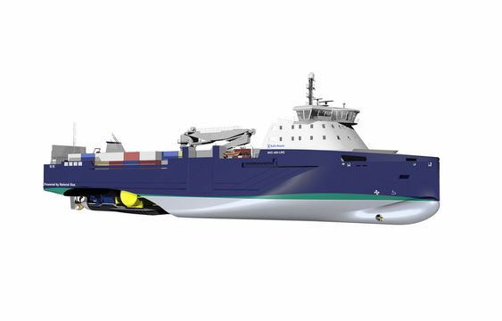 MILJØSKIP: Ny generasjon tørrlastskip reduserer CO2-utslipp med 40 prosent. Skipetskonseptet fikk Nor-Shippings pris Next Generation Ship Award.