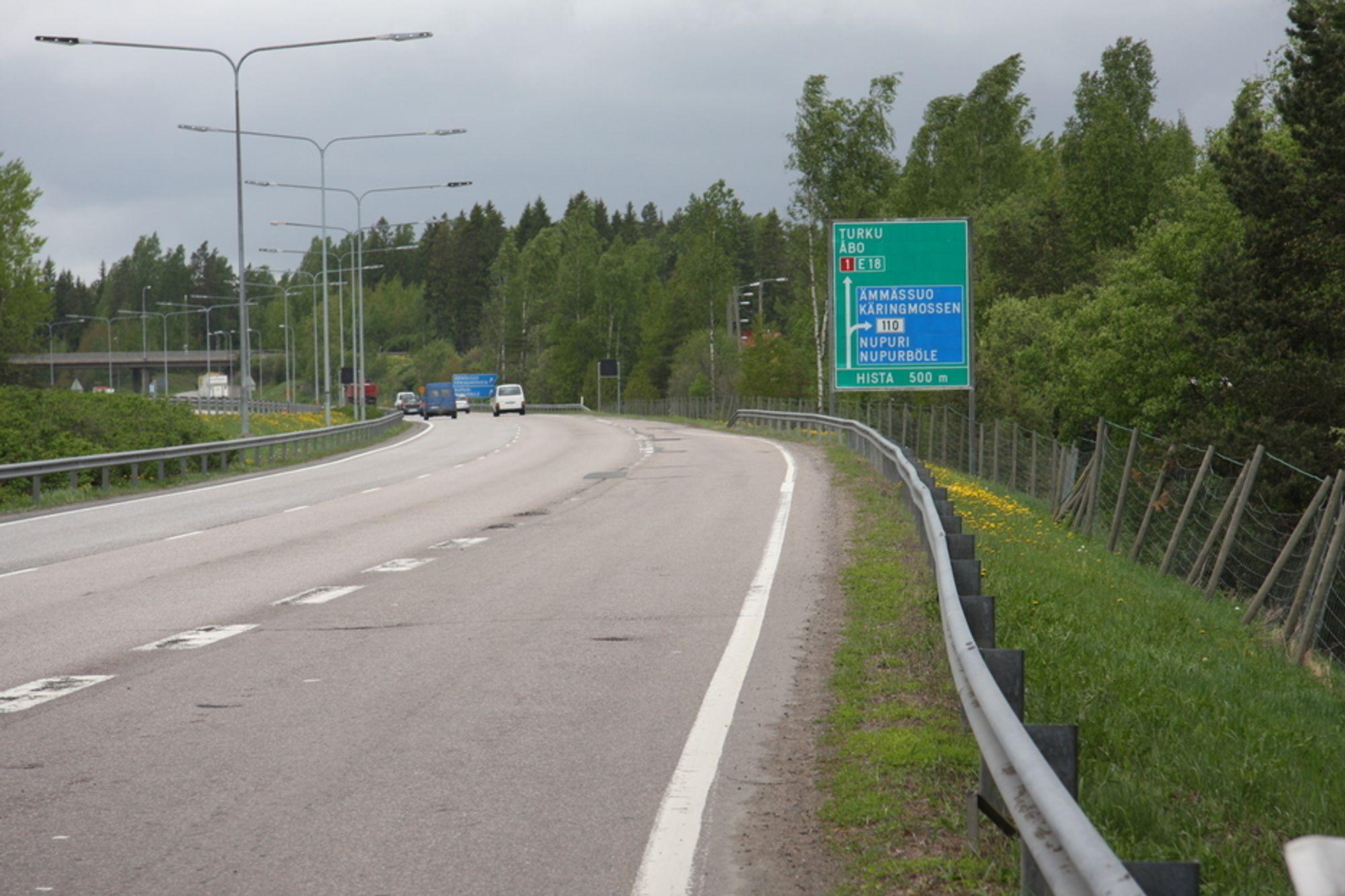 Finske veier tåler telehiv