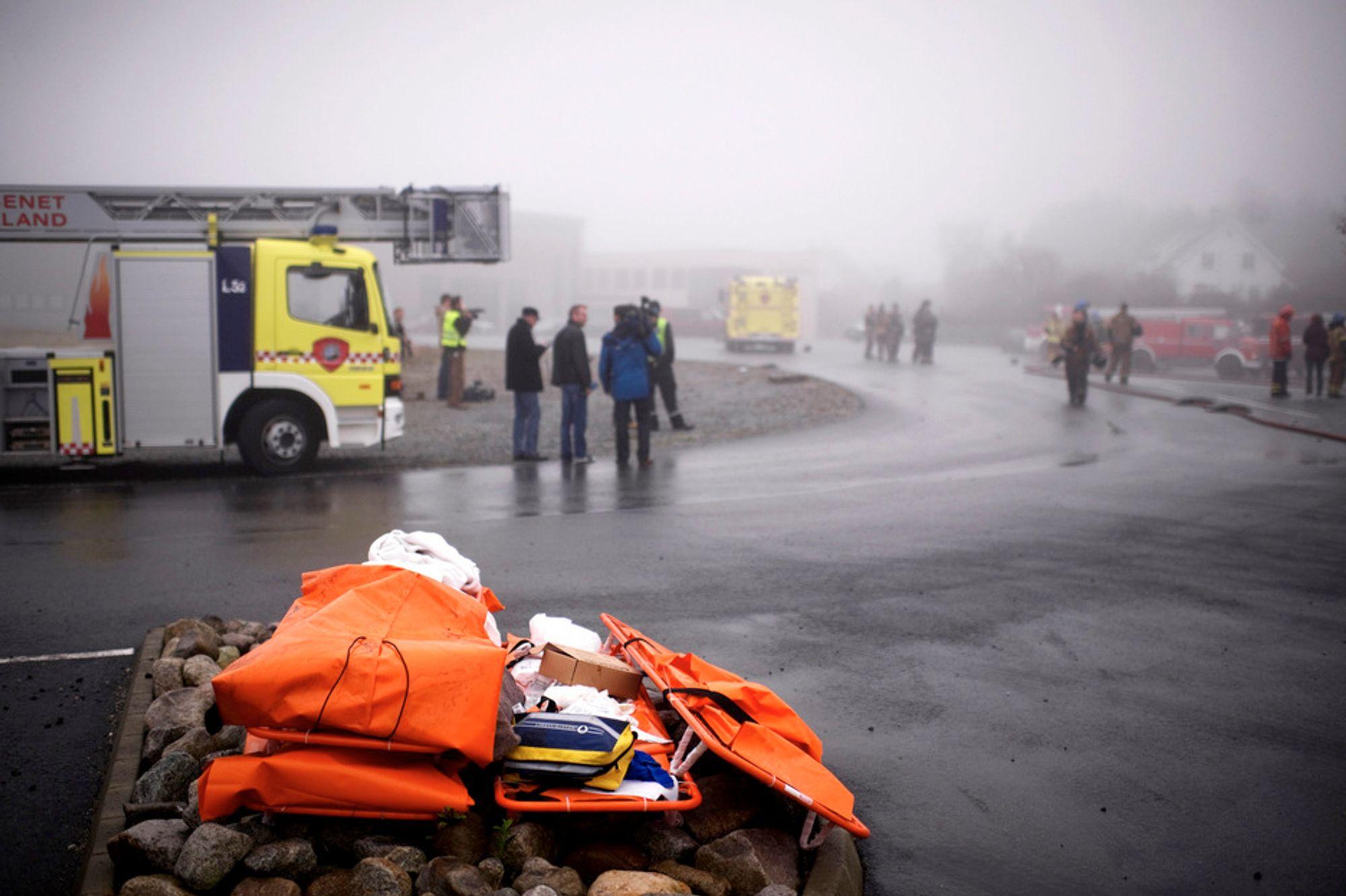 Politiet fikk mandag formiddag melding om en eksplosjon ved oljeserviceselskapet Malm Orstad på Voll i Klepp.
