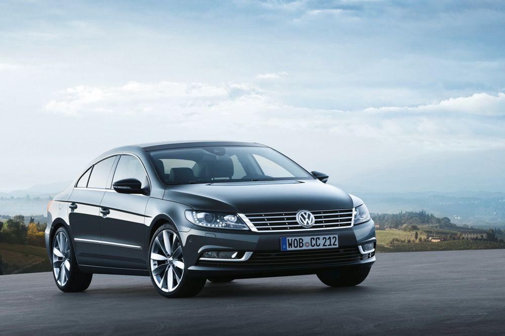 IKKE TIL NORGE: Volkswagen Passat CC med 210 hk kommer ikke til Norge - til tross for at bilen har lavere CO2-utslipp enn da den var på det norske markedet med 200 hk.