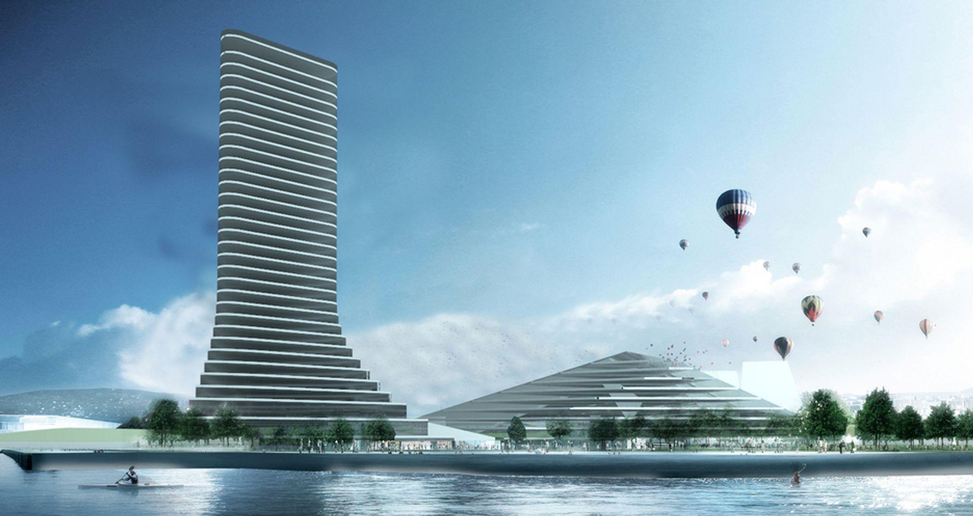 KONFERANSEHOTELL: Leder i byutviklingskomitéen, Jørn Kallmyr (FrP), vil gjerne ha dette høyhuset på Filipstad.