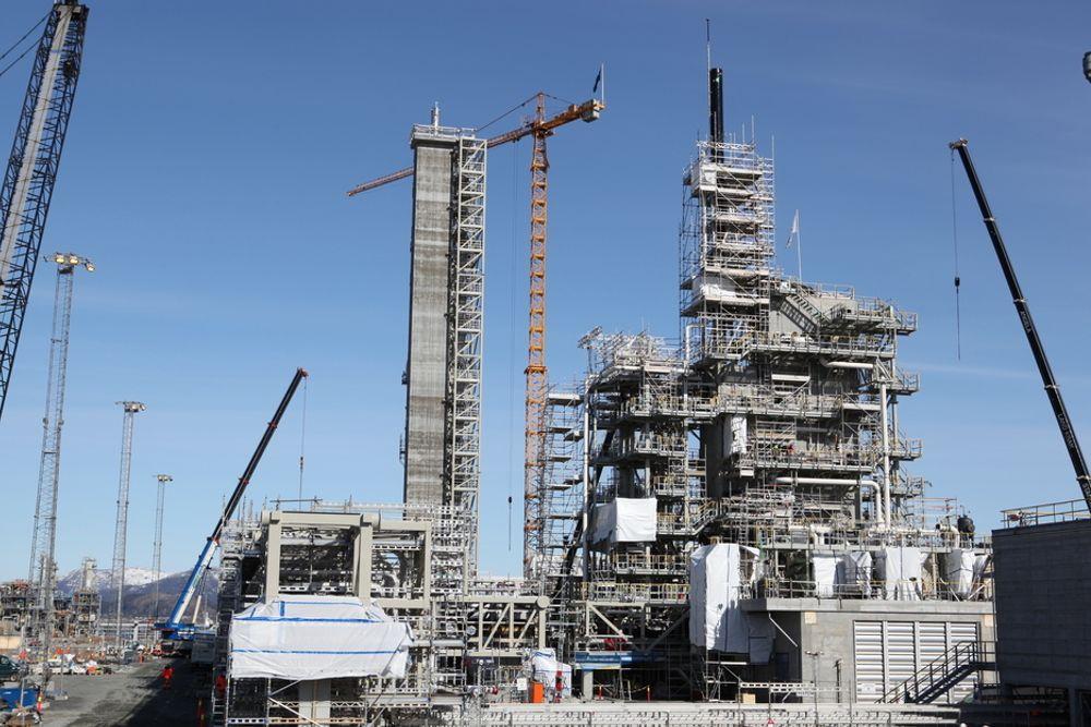 KLAR: CO2-renseanlegget fra Aker Clean Carbon er klart til bruk,