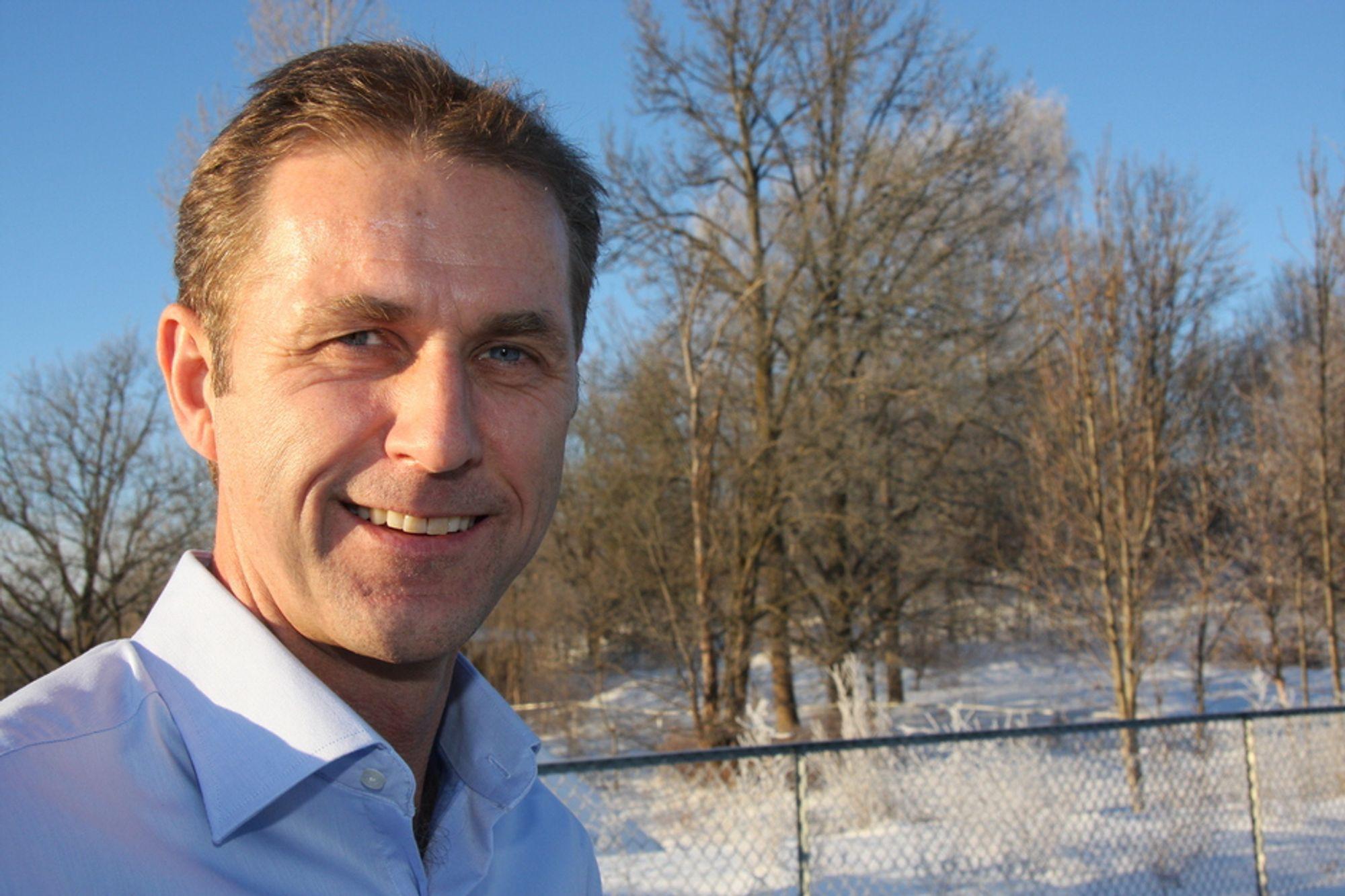 OPP: Petter Moe, administrerende direktør i Peab Norge mener at virksomheten er på vei opp.