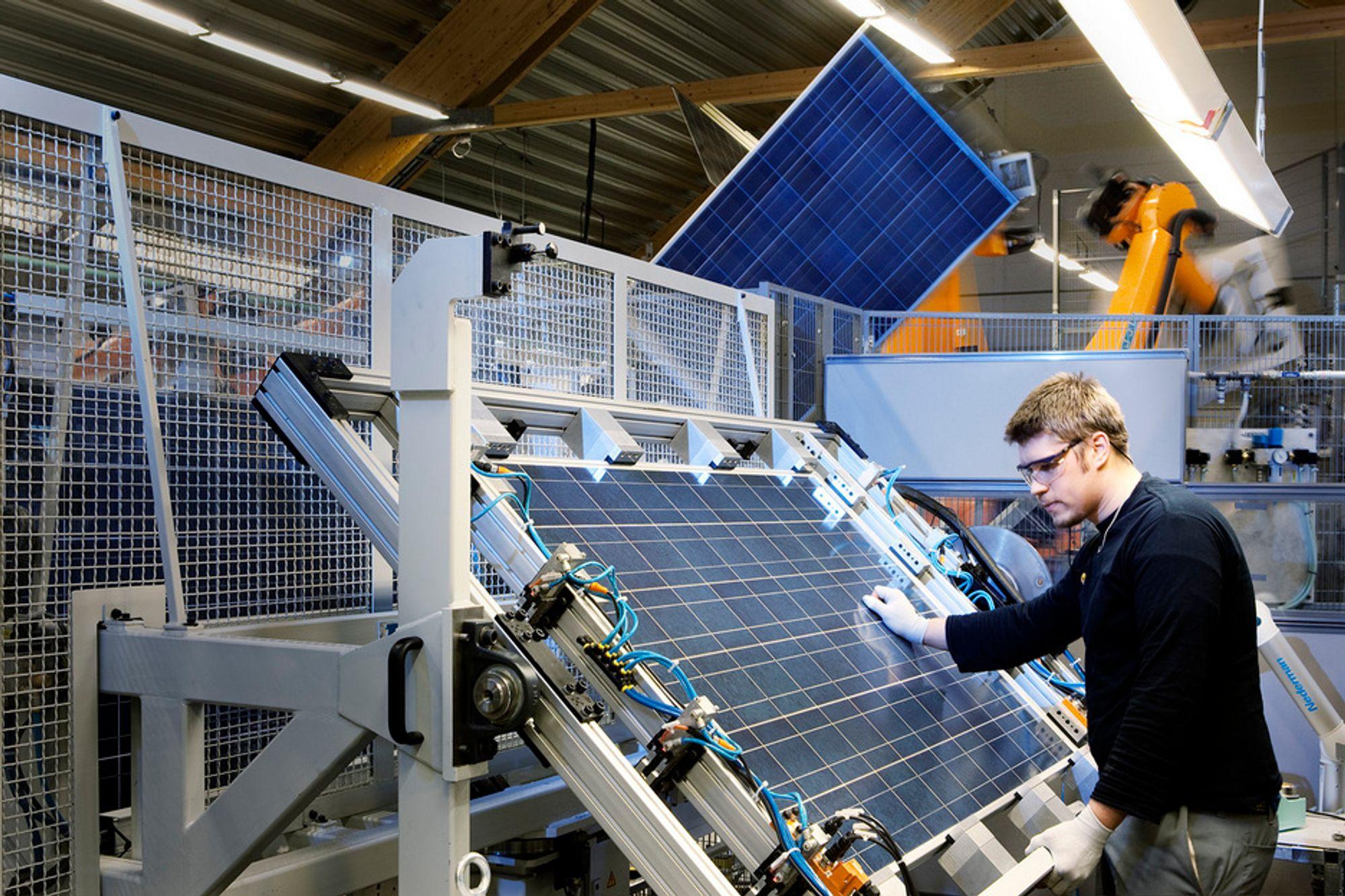 STERK VEKST: Solindustrien vokste med 26,8 prosent annet halvår 2010.