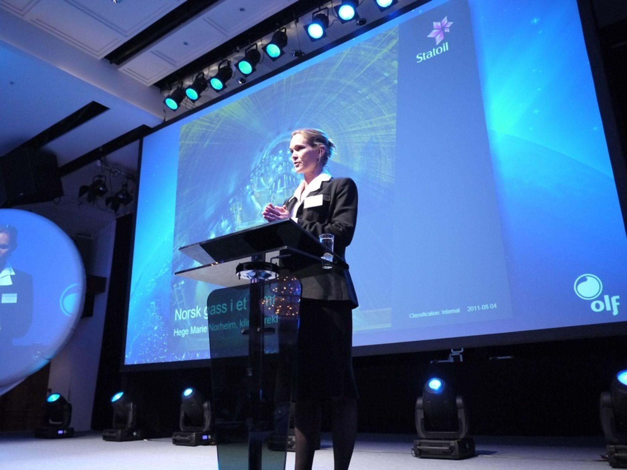 Hege Marie Norheim, klimadirektør i Statoil, mener norsk naturgass vil bli en viktig del av Europas energimiks.