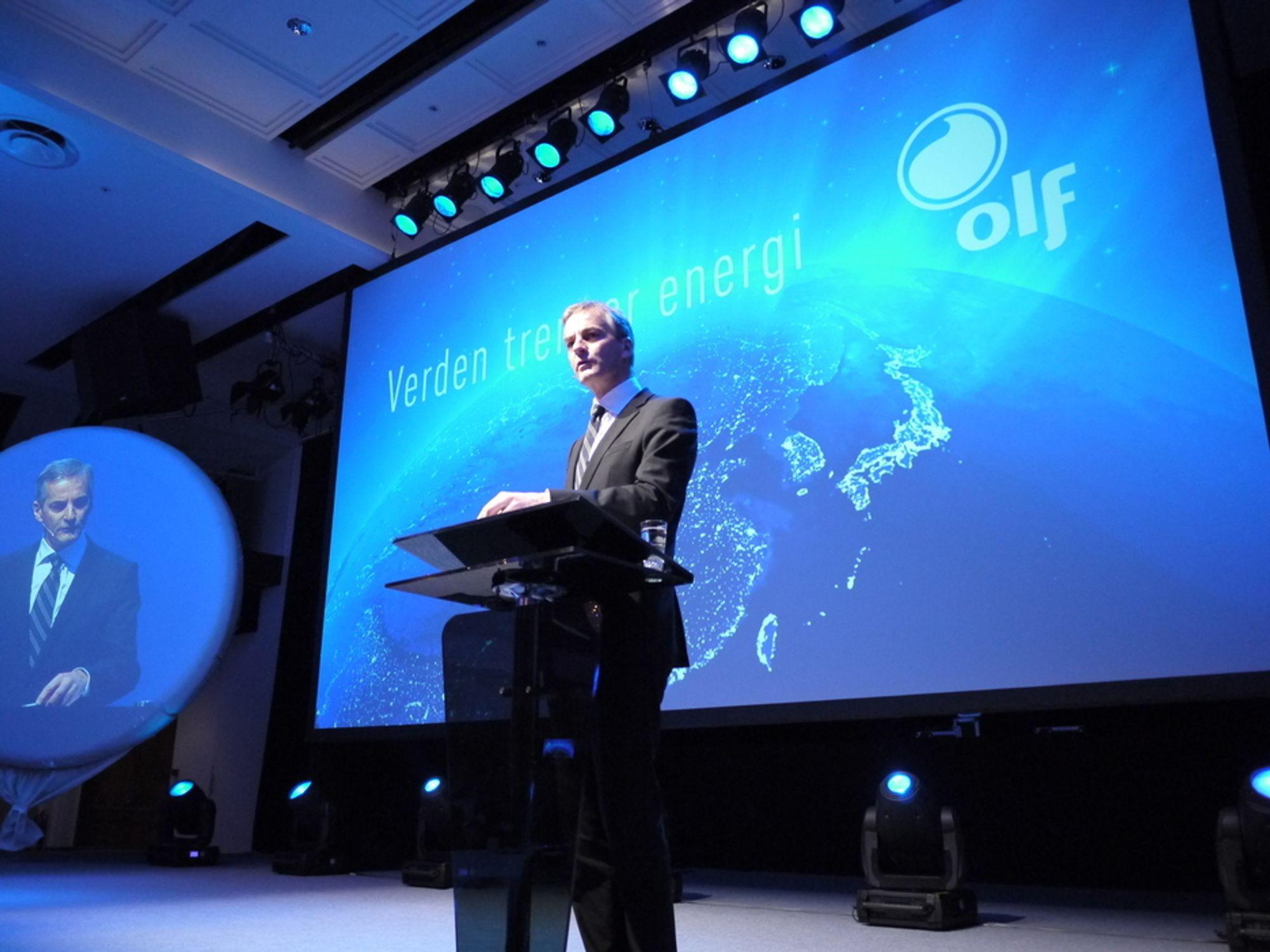 Utenriksministeren talte om gassens muligheter på OLFs årskonferanse.