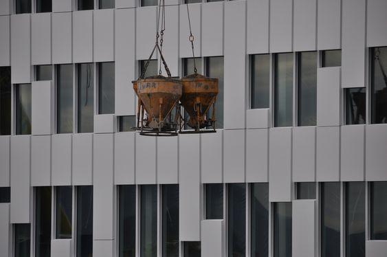 SVENSK: Statoil-byggets fasade-elementer er importert fra Sverige.