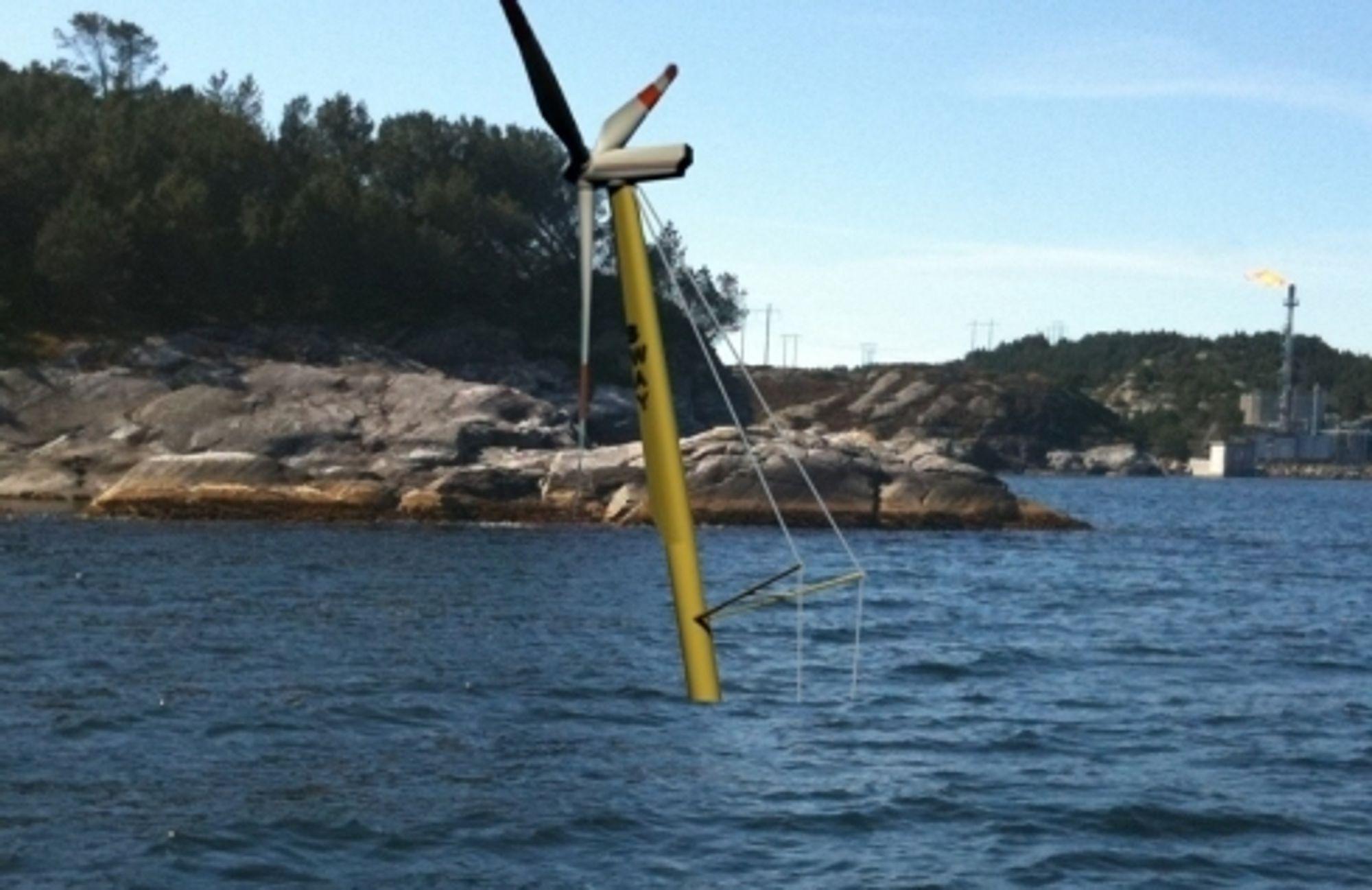 Sway skal teste et understell for havturbiner på 1:6, og samarbeider nå med Coast Center Base på Kollsnes utenfor Bergen.