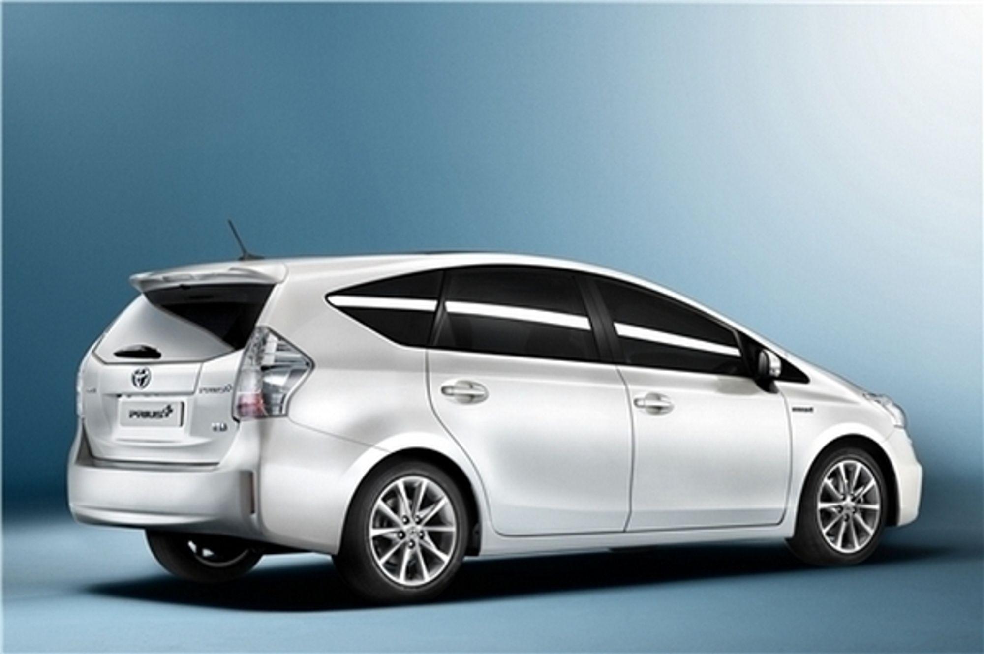 Toyota Prius+, som kommer om et år, har plass til sju.