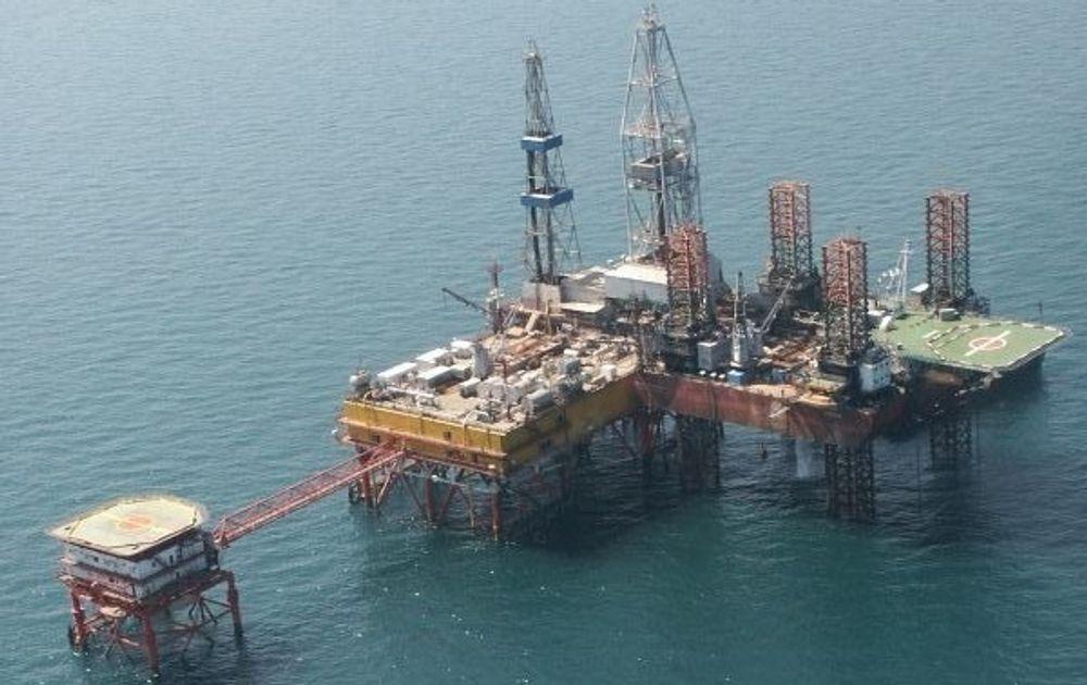 Ukraina har allerede oljeutvinning i Svartehavet som vist på bildet. Men Statoil vil inn på dypt vann.