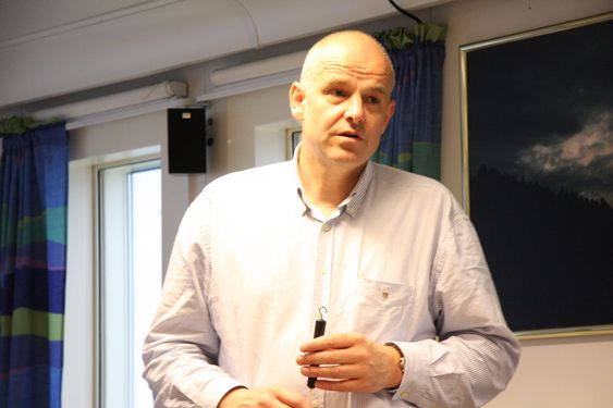 Frank Arnesen, Statoil-direktør for modne felt, snakker om Brage