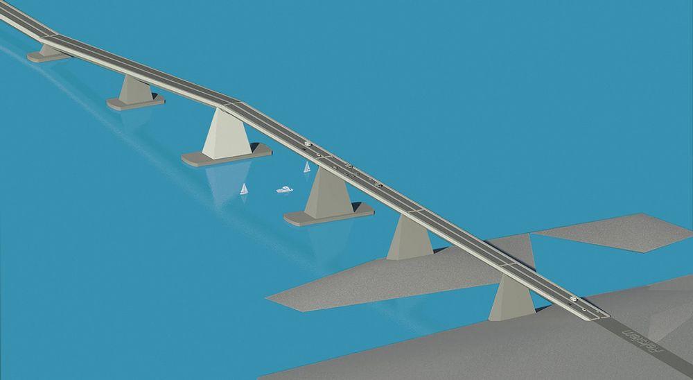 IDÉ: Det er sivilingeniørene Jan Soldal og Kjell Arne Møklebust fra Akvator og arkitekt Svein Kolbein Halleraker fra Link som har utviklet og presentert ideen om en flytebro over Bjørnafjorden.