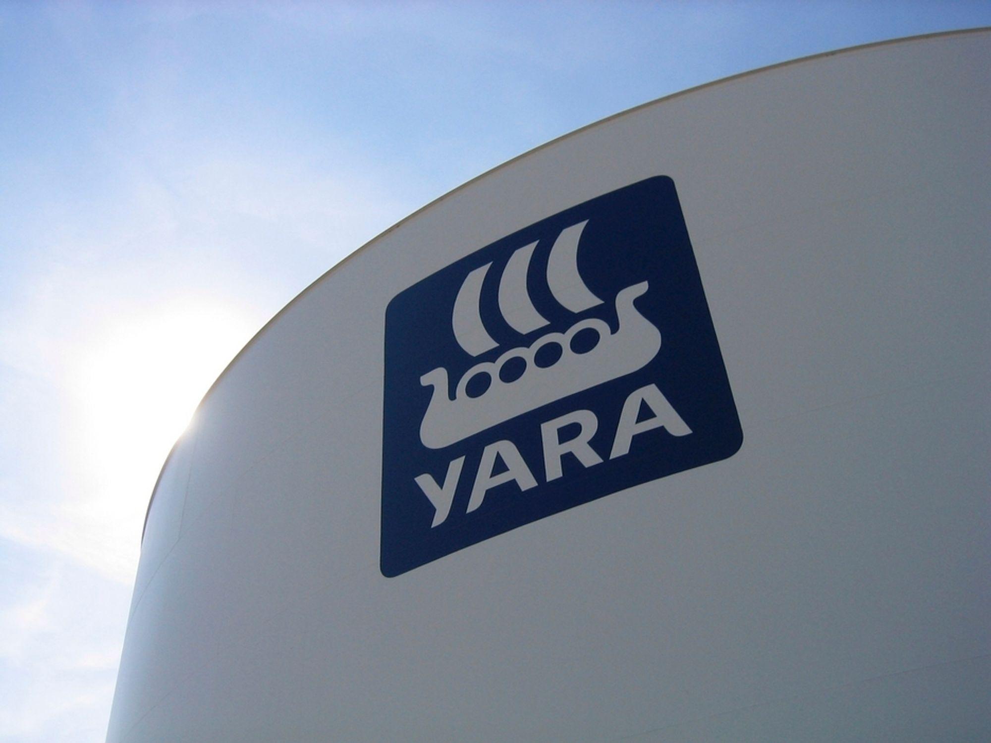 Yara øker produksjonen i Qatar.