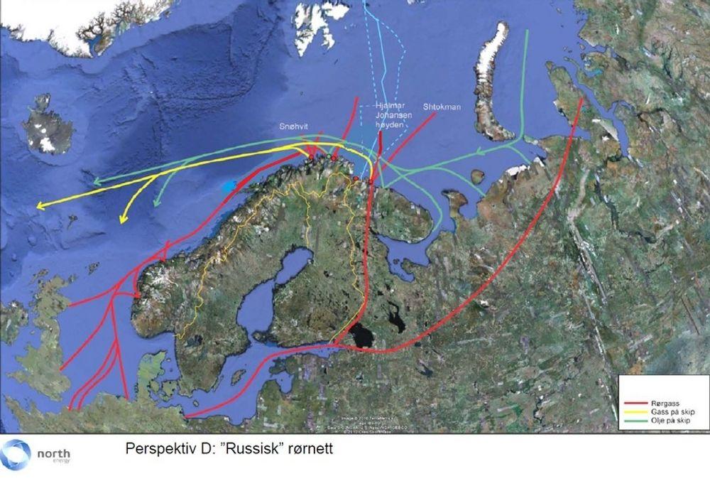 Gassrør: Det er mer lønnsomt å legge et gassrør fra Barentshavet enn å bygge LNG-anlegg.
