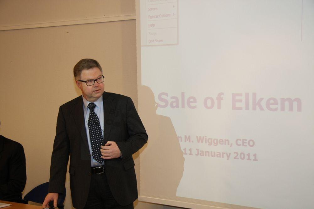 ELKEM BLIR KINESISK: ¿ Dette styrker Elkem internasjonalt. Det er viktig at det investeres videre i Elkem. Det er også viktig at forsknings- og utviklingsvirksomheten i selskapet blir i Norge, sier Orkla-direktør Bjørn Wiggen.