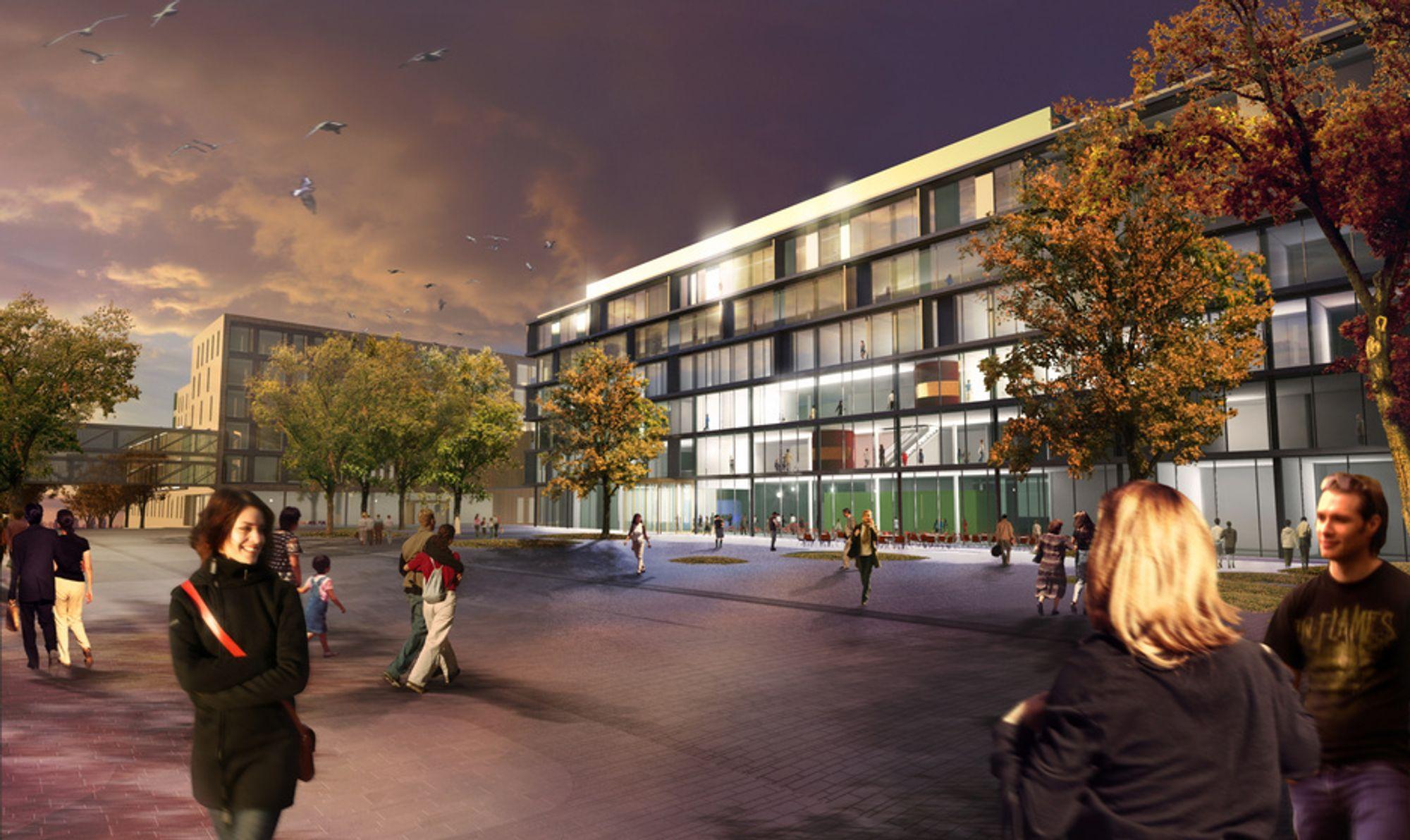 BYGGES: Dette skal opp, med passivhusstandard. Bygget vil være med å sette ny standard for offentlige bygg.