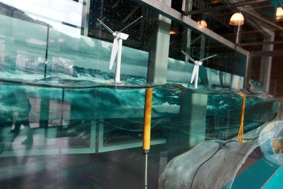 Energiakavarium: Her kan man finne ut hvordan bevegelsesenergien i vind, havstrømmer og bølger kan omvandles til elektrisitet.