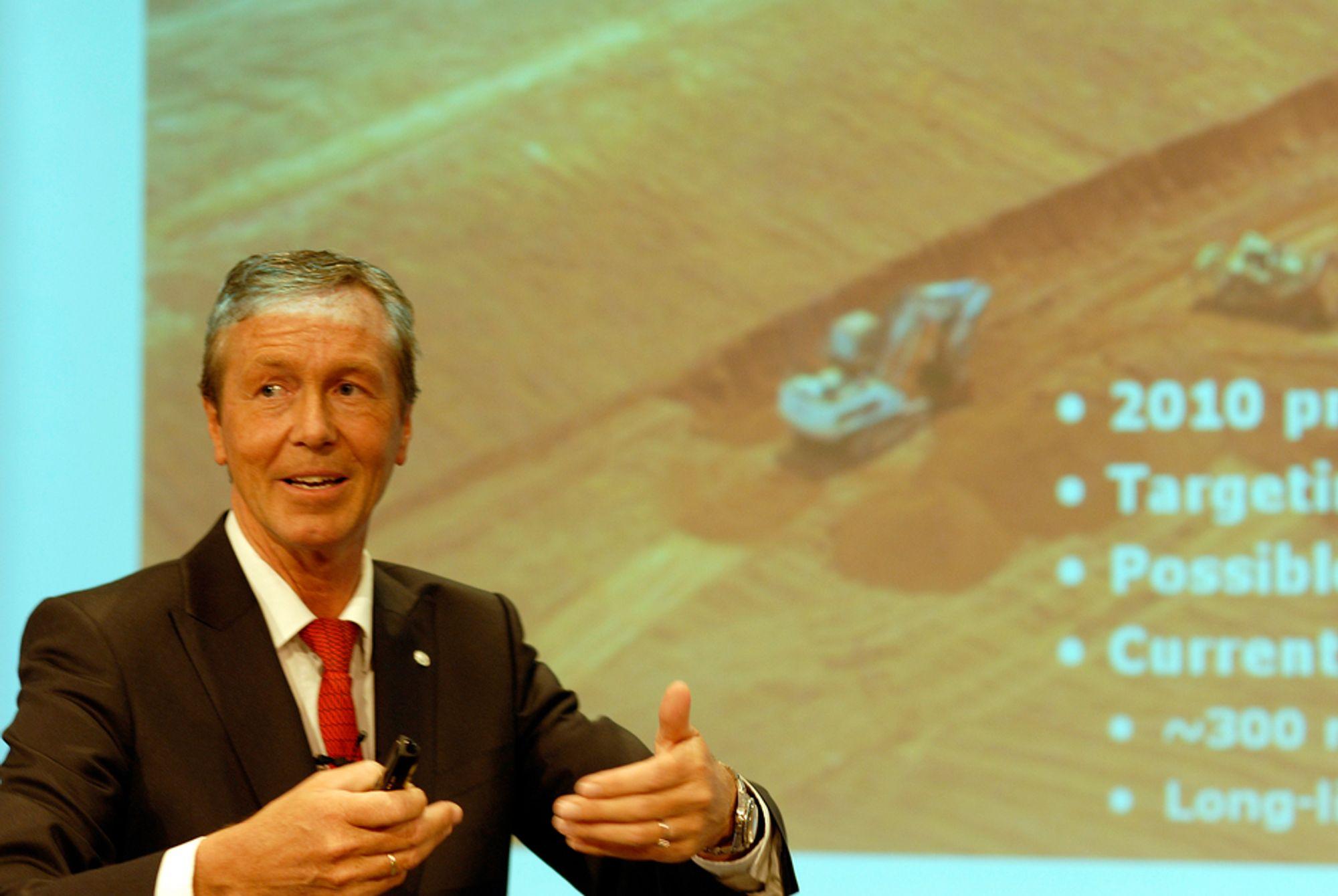 VIL ØKE: Hydros konserndirektør for bauksitt og alumina, Johnny Undeli, er sikker på at Hydros produksjon i Brasil vil øke.
