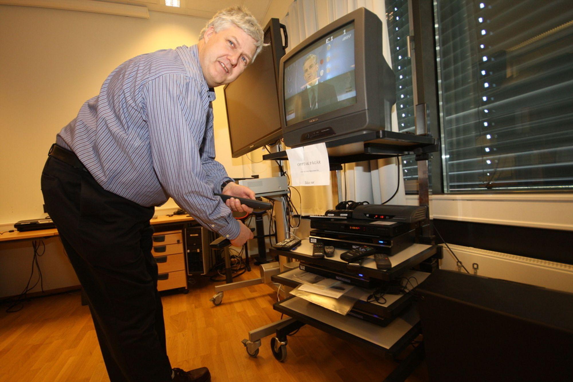 DRØM: Utredningsdirektør Tor Erik Engebretsen hos Medietilsynet har lenge drømt om å kunne skrote harddiskopptakerne.