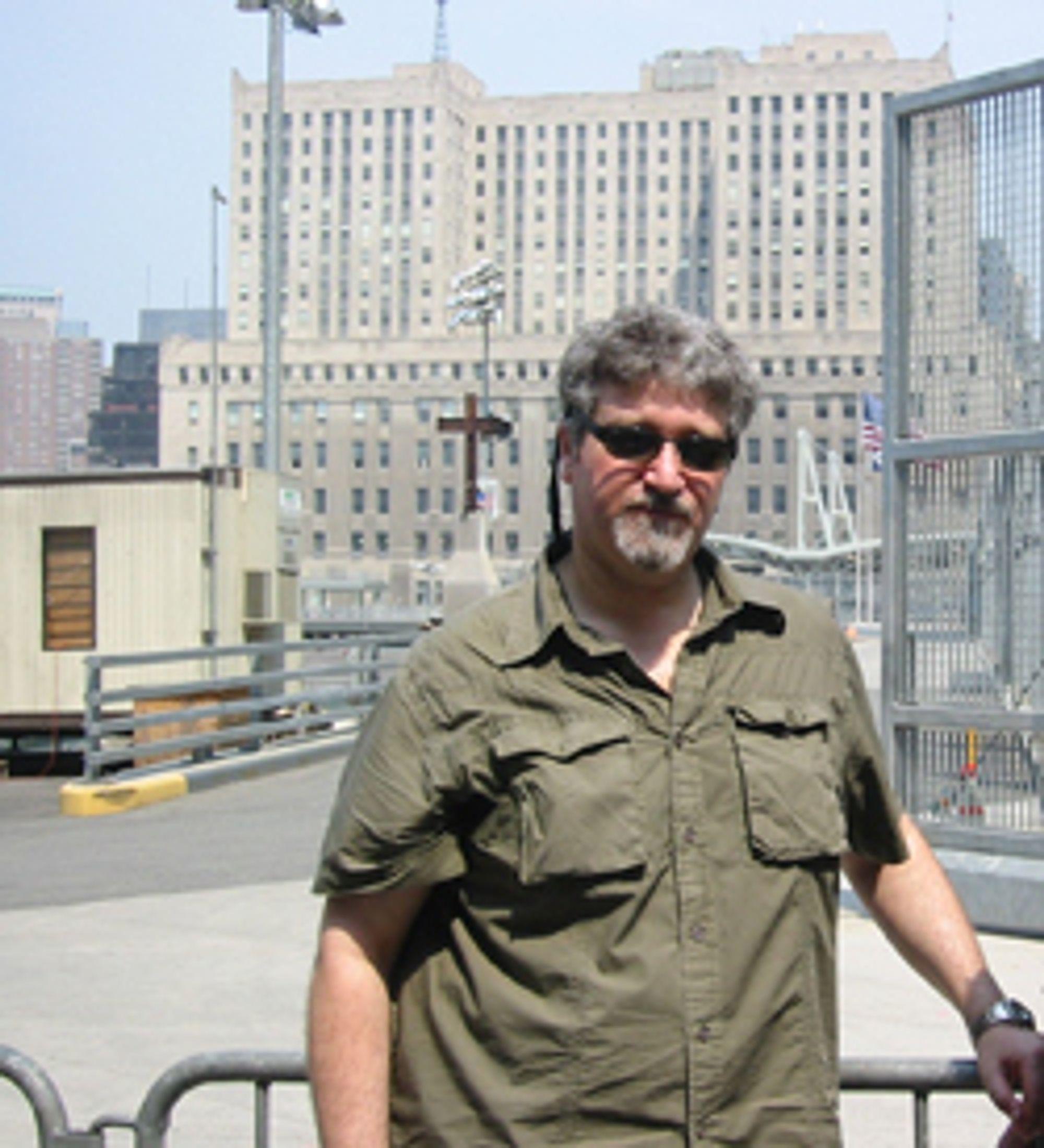 WTC-FORSKER: Professor Ed Galea ved University of Greenwich ledet den største studien på evakueringen av Tvillingtårnene.