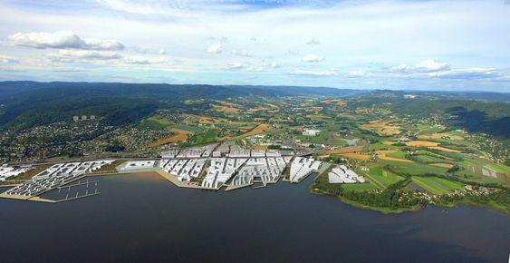 Lierstranda FjordbyIdekonkurranse, Eidos EiendomsutviklingForslag fra LPO Arkitekter