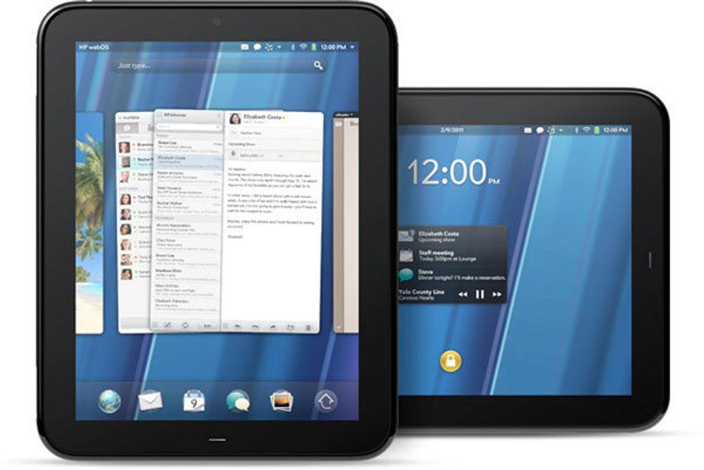 HPs TouchPad har like stor skjerm og samme oppløsning som iPad.