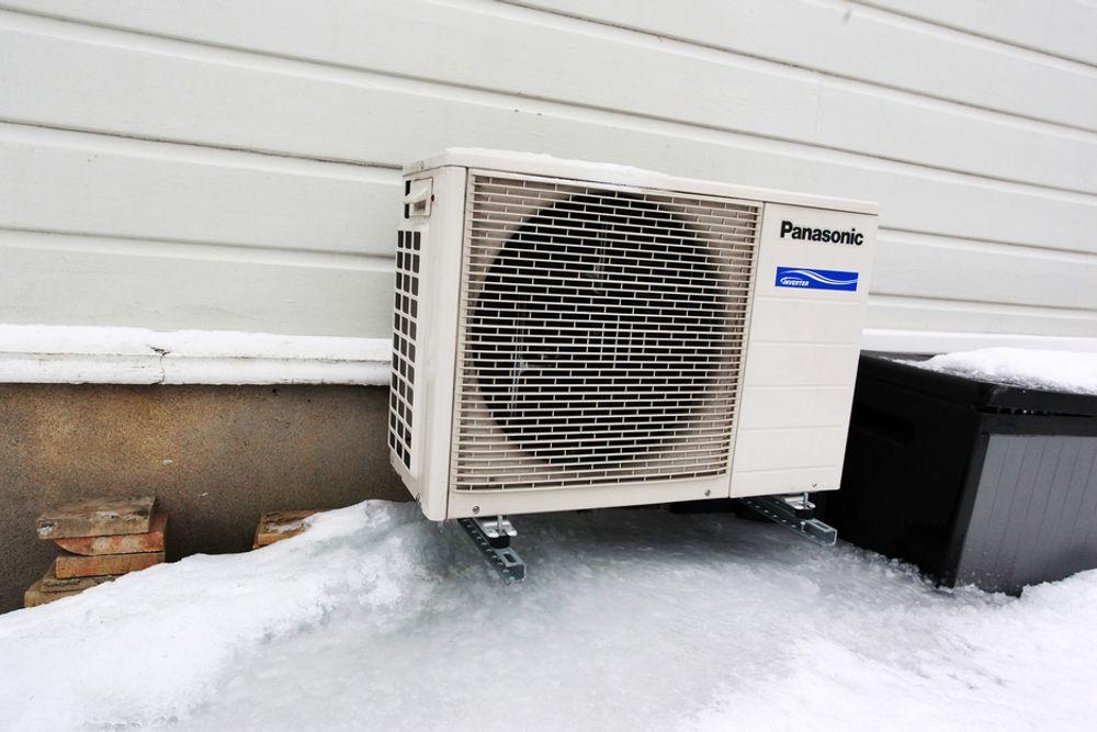HØYT FORBRUK: Ved ekstrem kulde synker varmepumpens virkningsgrad, og folk må bruke andre varmekilder i tillegg. Dermed øker maksforbruket kraftig.