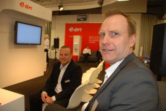 Salgssjefer i E.On Anders Sjøgren t.h. og Magnus Andersson.