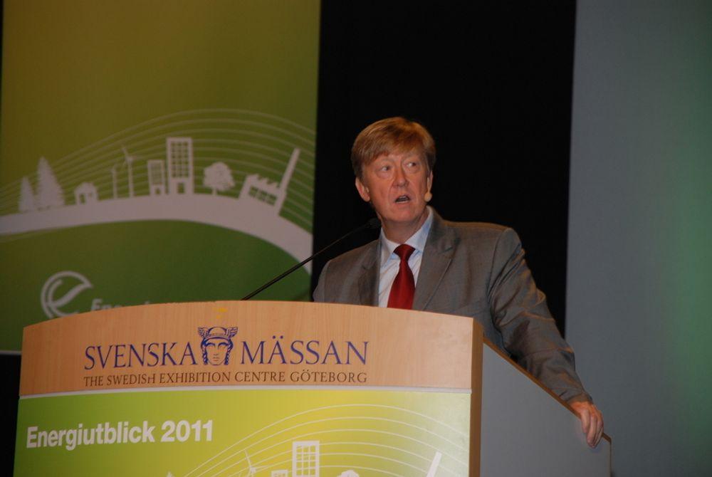 MÅ LÆRE: Svensk kjernekraft skal lære av det som skjer i Japan, sa miljøvernminister Anders Carlgren på Energiutblick2011