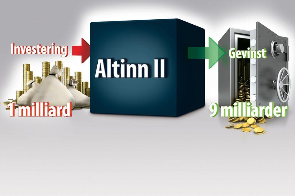 GULL: Altinn II-plattformen vil gi store effektiviseringsgevinster for samfunnet, viser analyser.