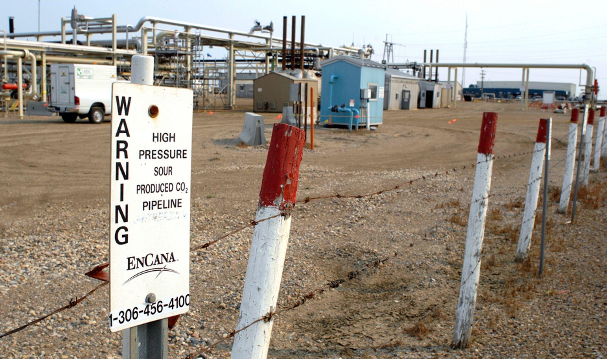 WAYBURN: Oljeselskapet Cenovus har siden 2000 injisert om lag 16 millioner tonn CO2 i bakken for å få mer olje ut av et aldrende felt og for å kutte utslipp.
