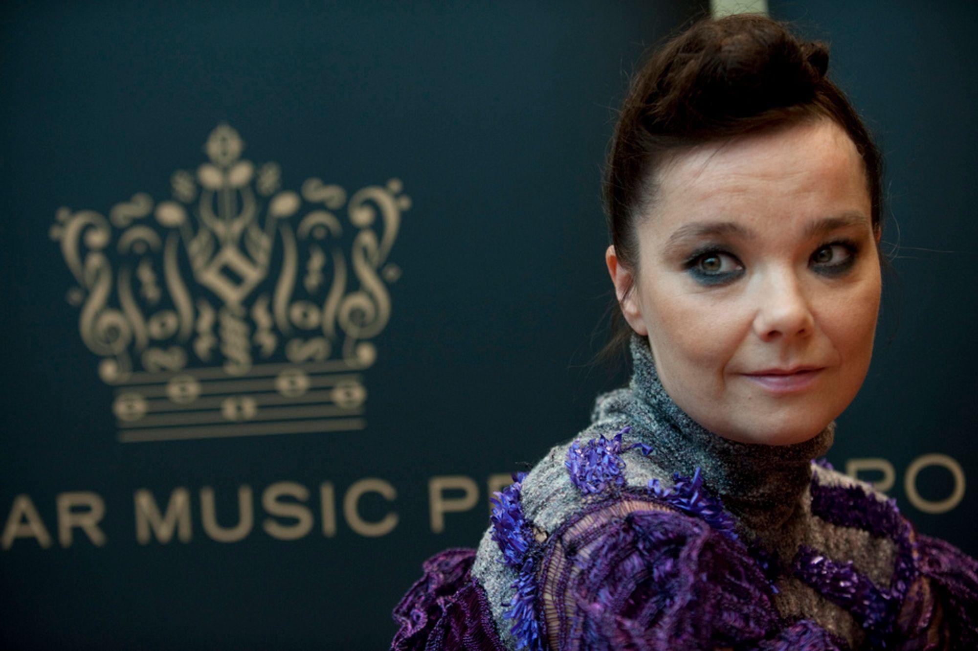 KRAFTFULL PROTEST: Den verdensberømte islandske artisten Bjørk har kastet seg inn i kampen for islandsk kontroll over de geotermiske energiressursene i landet. Nå kan det hende at hun lykkes i å presse Island til å kjøpe tilbake energiselskapet HS Orka.