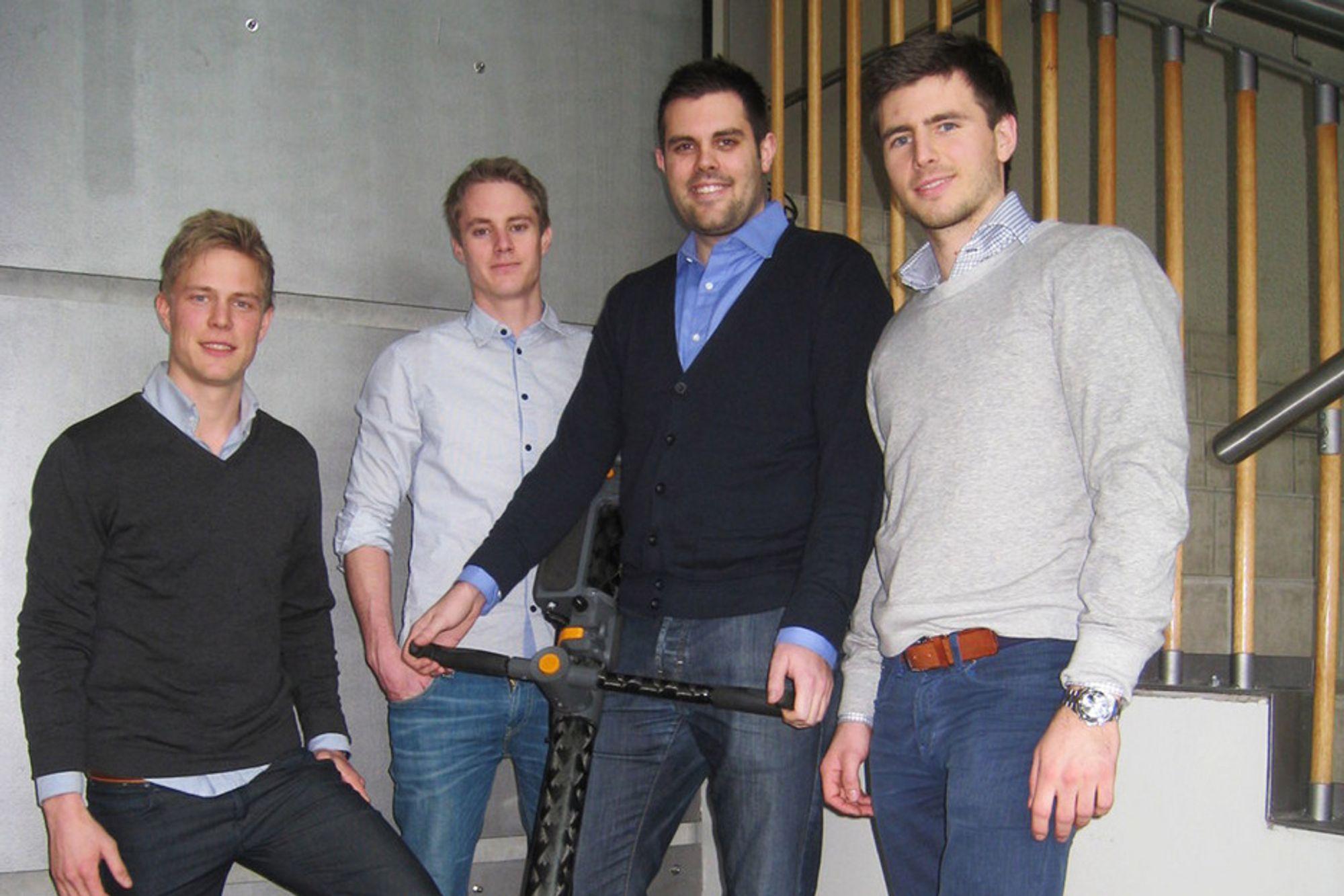 KAMPKLARE: Marius Monsen Ragnøy (fra venstre), Lars Dybvik, Morten Stensli og Ragnar Andreas Severinsen skal kjempe om penger og heder i USA.