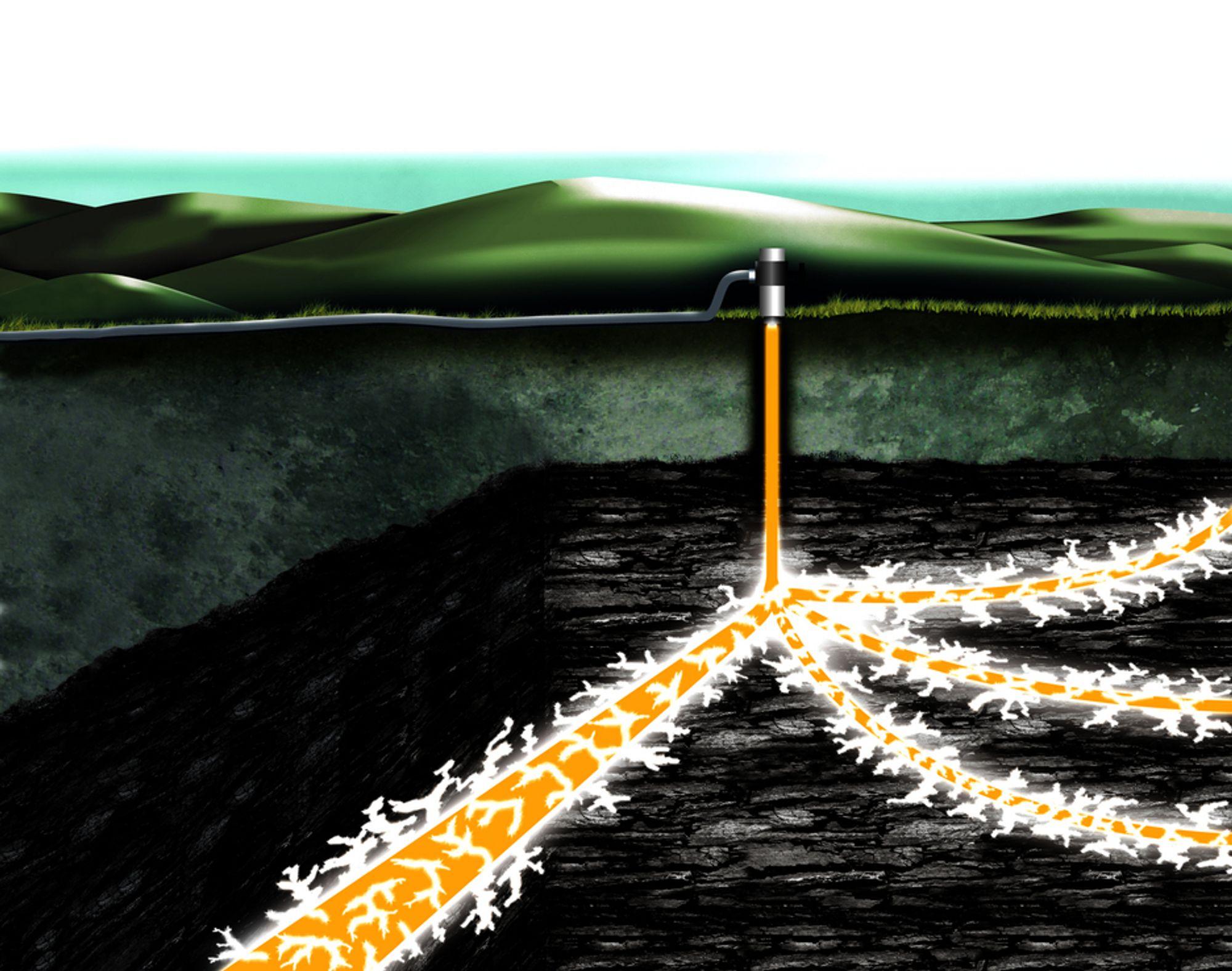 Fracking, eller hydraulisk frakturering,  kan bli en realitet på dansk landejord. Men planene møter motstand.