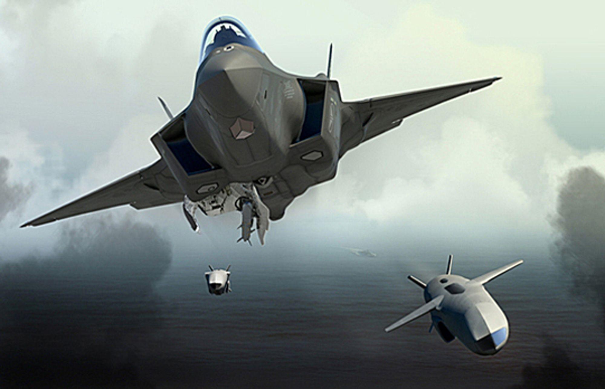 JSM kan bæres innvendig i de nye F-35-flyene.