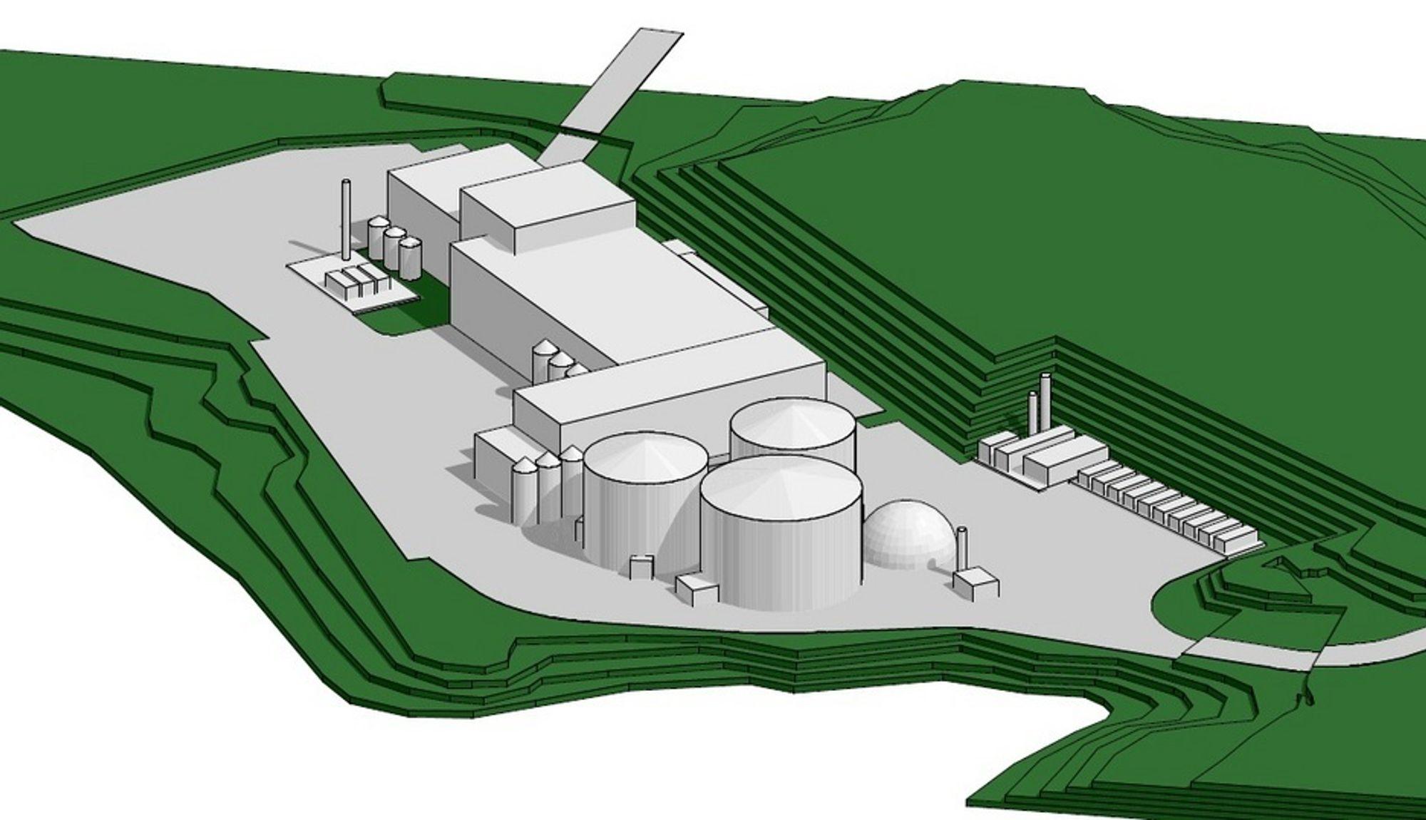 LAGER DRIVSTOFF: Dette anlegget på Nes skal gjøre matavfall til biogjødsel og drivstoff for busser. Cambi i Asker fikk kontrakten verdt 350 millioner kroner med Energigjenvinningsetaten i Oslo.