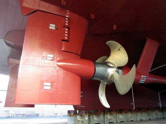 INTEGRERT: Rolls-Royce har koblet sammen ror og propell og reduserer dermed energibruk for skip. Systemet kalles Promas.