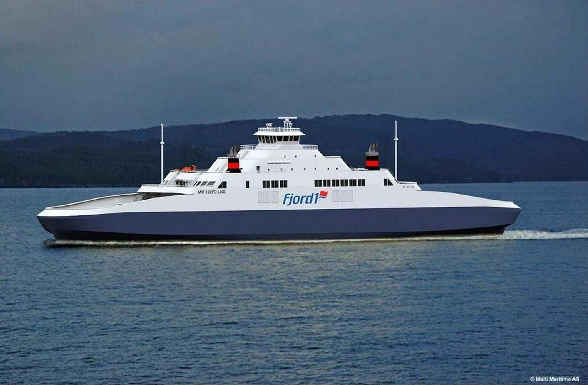 MODERNE: Fjord1 har bestilt verdens største LNG-ferje fra Fiskerstrand. Nå kan et moderne  og kanskje enda mer miljøvennlig skip bli brukt også på Lavik-Oppedal-sambandet fra 2015.