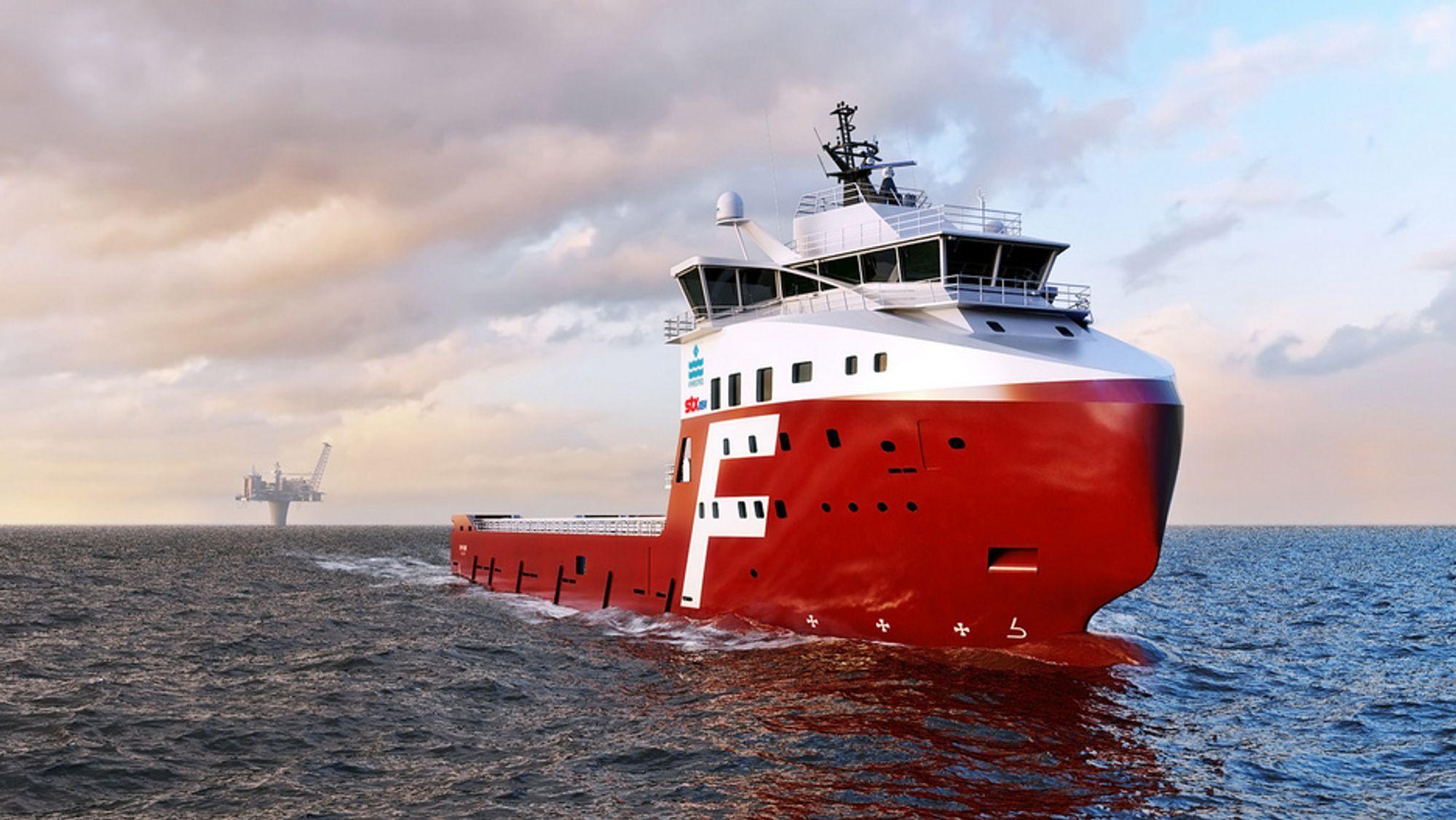 RAMMES: Rederier som Farstad som kjøper supply-skip som disse fra STX, kan heretter måte kjøpe skipene sine fra verft i Korea og Kina, i stedet for Norge på grunn av begrensingene i Ekportfinans kreditter som følge av et nytt EU direktiv.