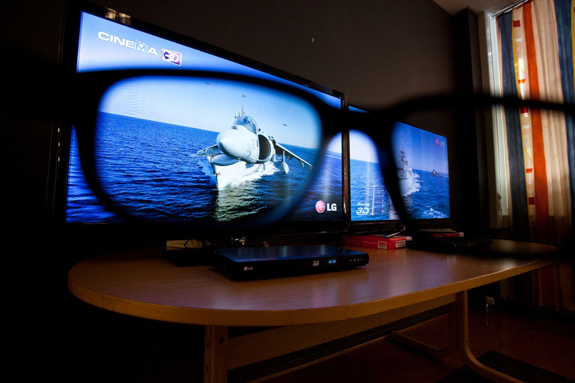 """LGs passive """"kino-3D"""" kommer ut omtrent like bra som Samsungs aktive løsning. LG-en har den fordelen at brillene koster en brøkdel."""