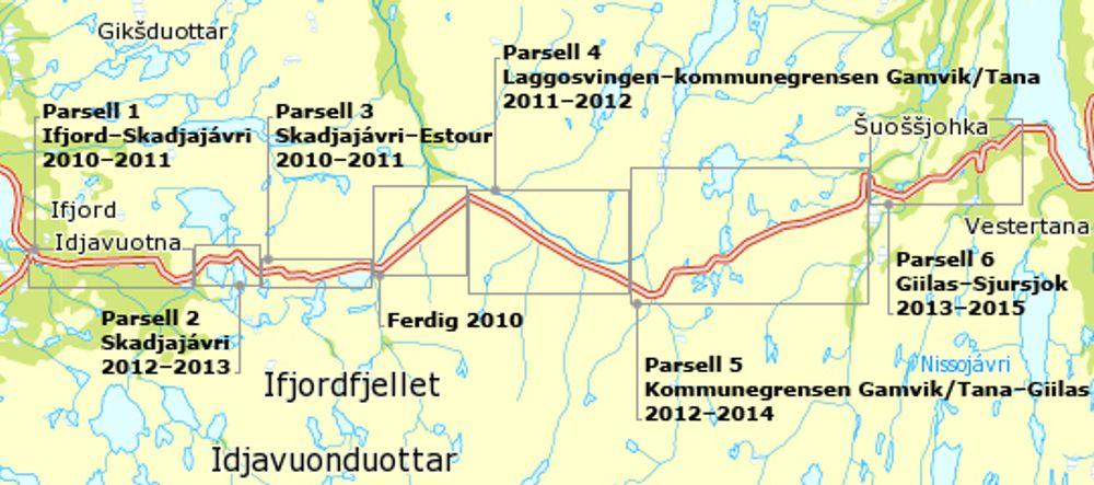 Mye rart skal skje hvis ikke HAB Construction får parsell 4, som ligger omtrent midt på kartet. Ill.: Statens vegvesen